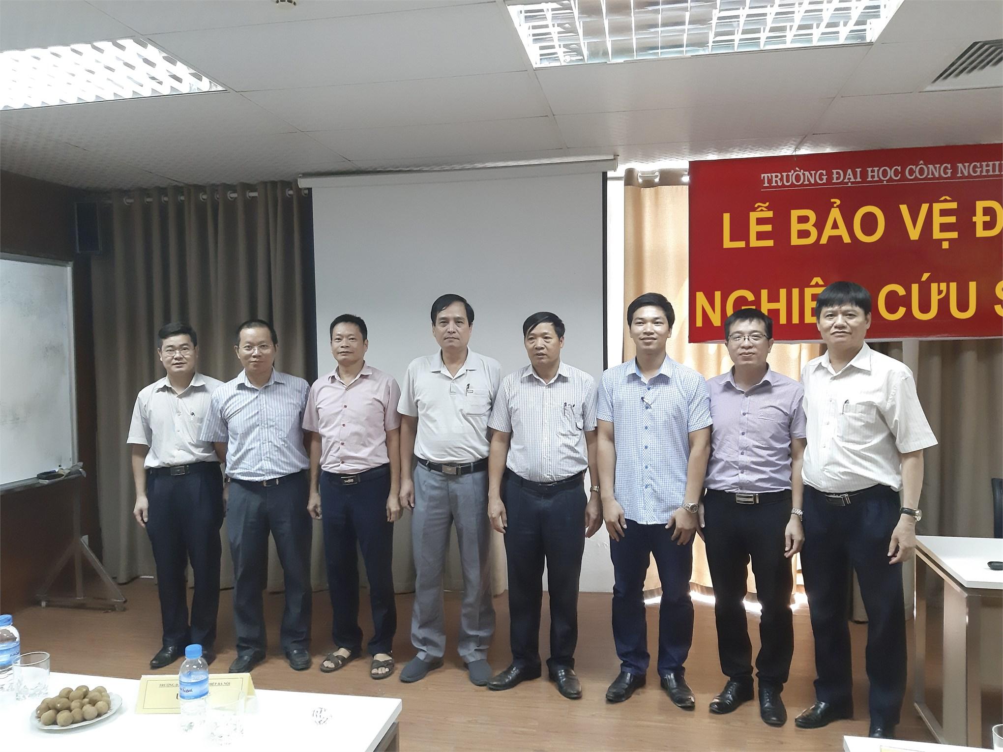Tổ chức bảo vệ đề cương cho thí sinh dự tuyển nghiên cứu sinh đợt 1 năm 2019, chuyên ngành Kỹ thuật cơ khí.