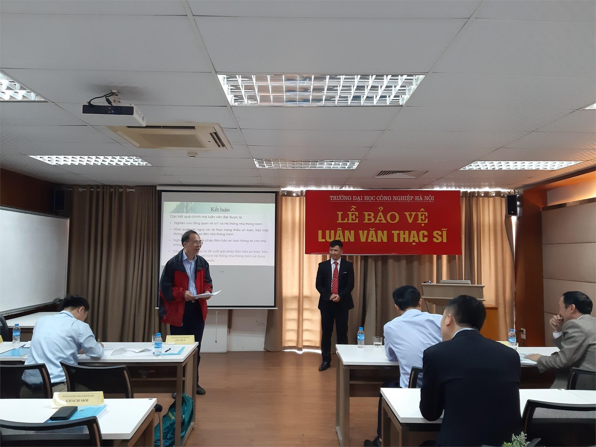 Tổ chức Bảo vệ luận văn thạc sĩ – Chuyên ngành Hệ thống thông tin - Cao học Khóa 7 đợt 2 (2017-2019)