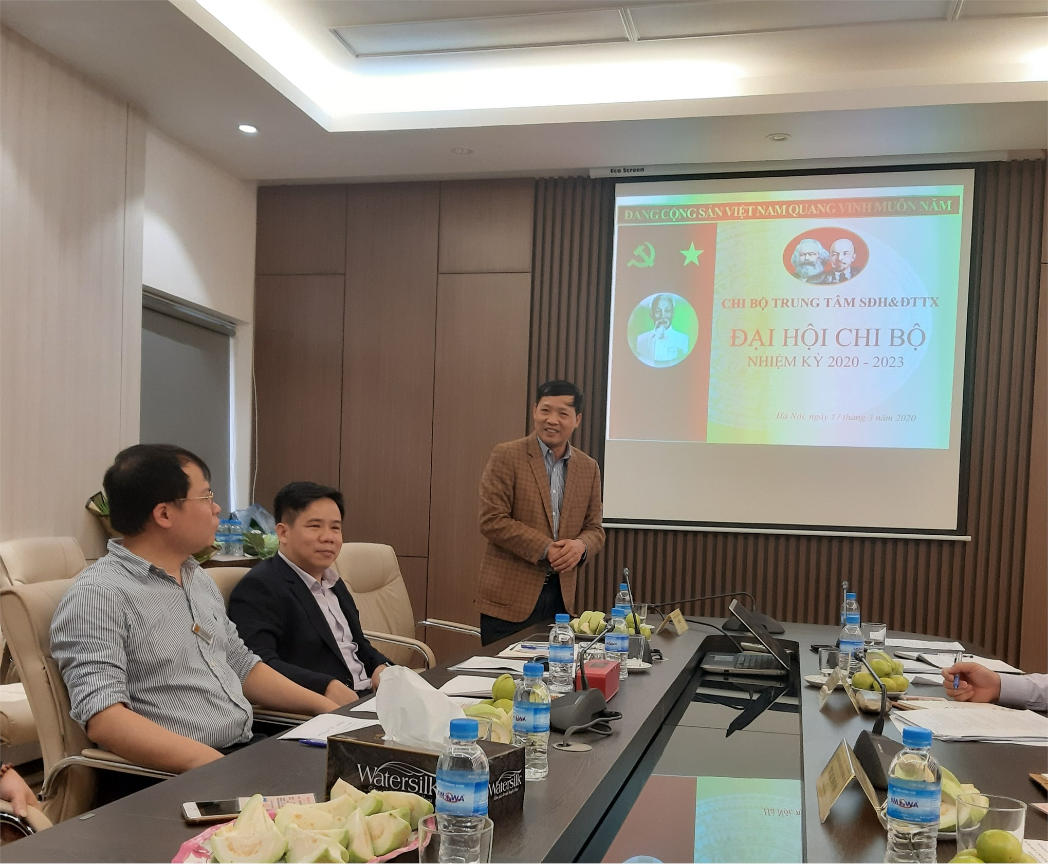Đại hội Chi bộ Trung tâm Sau đại học và Đào tạo thường xuyên, nhiệm kỳ 2020-2023.
