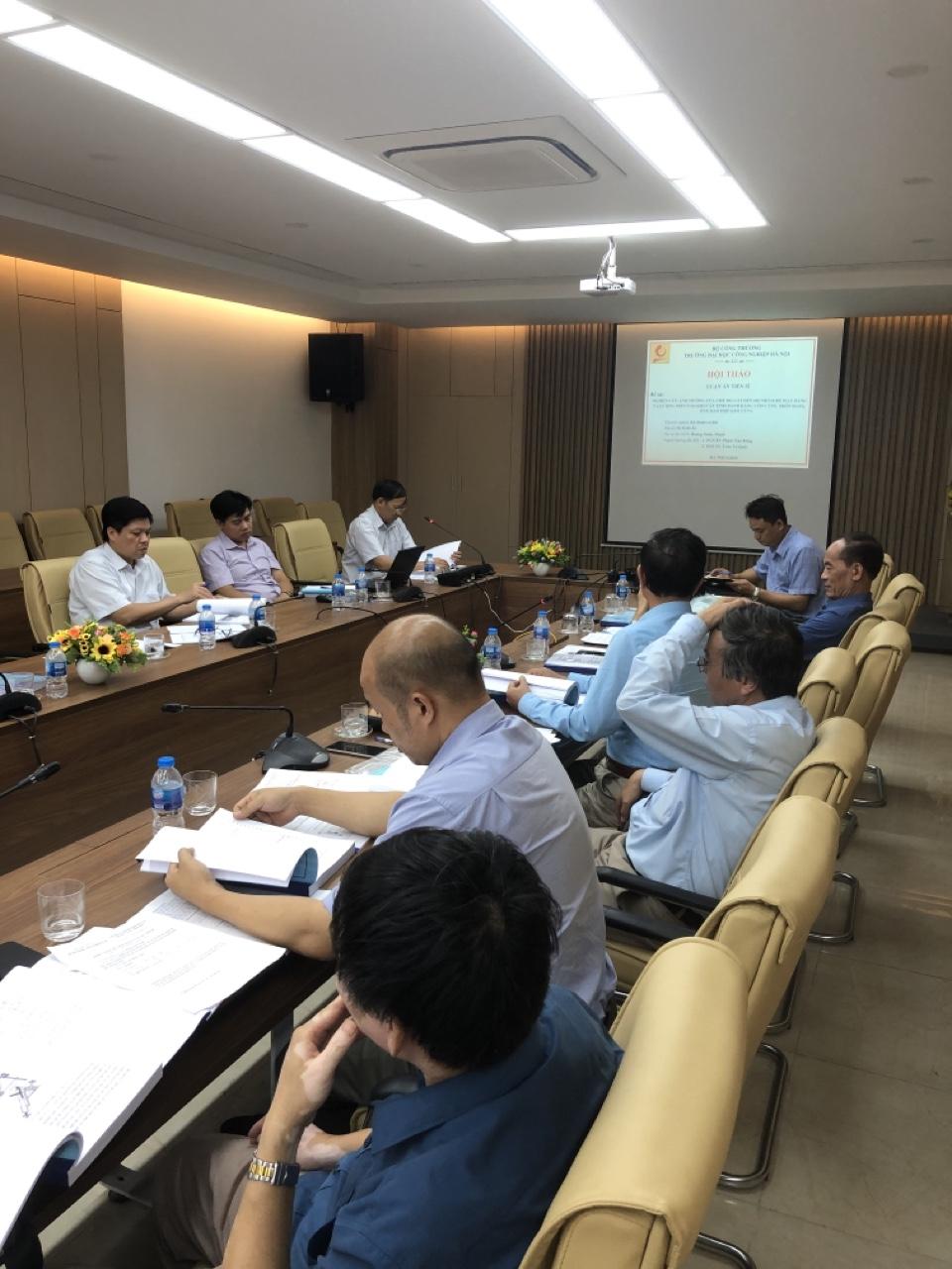 Tổ chức Hội thảo luận án tiến sĩ cho NCS Hoàng Xuân Thịnh, chuyên ngành Kỹ thuật cơ khí